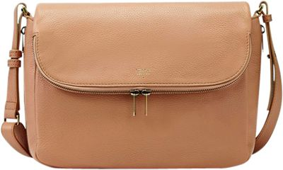 Fossil Preston Flap Crossbody Beige - Fossil Leather Handbags