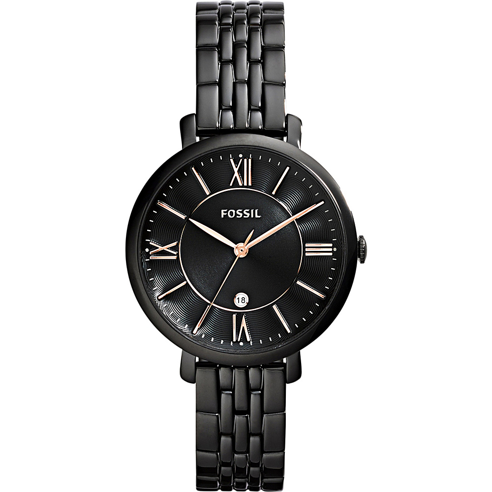Fossil Jacqueline Watch Black - Fossil Watches