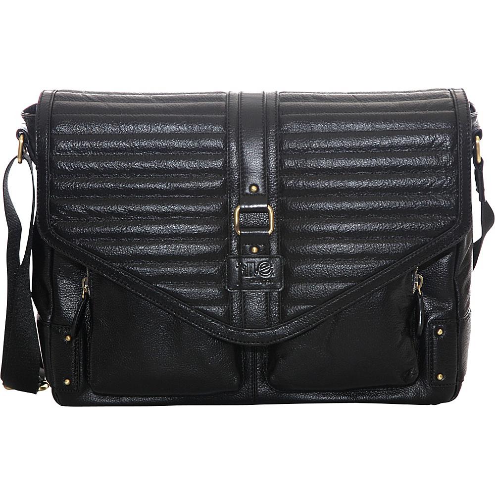 Jill e Designs Veronica 15 Leather Laptop Bag Black Jill e Designs Non Wheeled Business Cases
