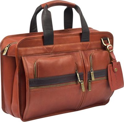 Robert Myers Portfolio Tan with Brown - Robert Myers Non-Wheeled Business Cases