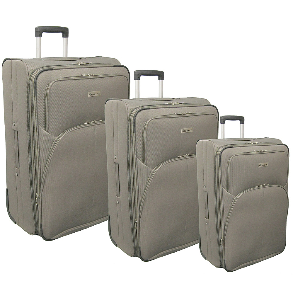 McBrine Luggage Eco Friendly 3 Piece Luggage Set with Inline Wheels Khaki - McBrine Luggage Luggage Sets