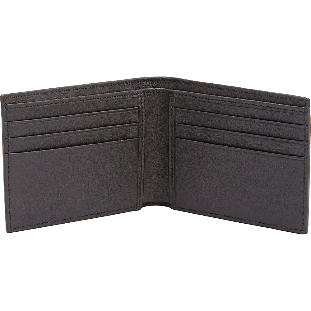 Royce Leather RFID Blocking Saffiano Leather Mens Hipster Bifold Wallet Black - Royce Leather Men's Wallets