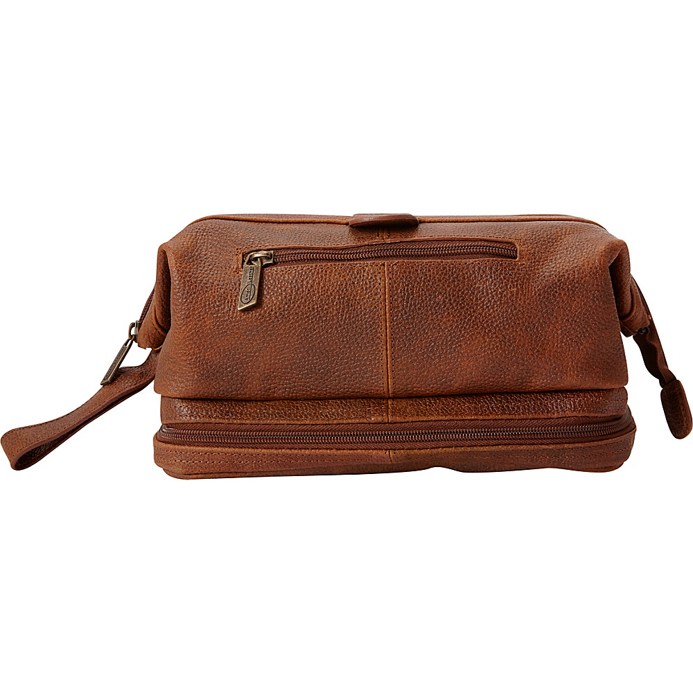 AmeriLeather Leather Toiletry Bag w/ Accessories - eBags EXCLUSIVE Waxy Brown - AmeriLeather Toiletry Kits - Travel Accessories, Toiletry Kits