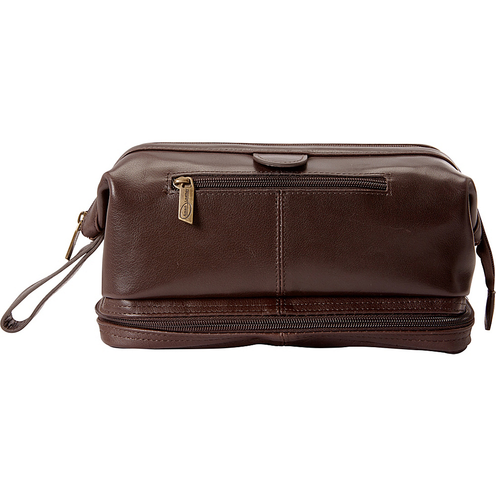 AmeriLeather Leather Toiletry Bag w/ Accessories - eBags EXCLUSIVE Dark Brown - AmeriLeather Toiletry Kits - Travel Accessories, Toiletry Kits