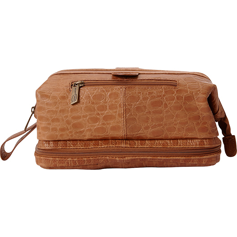 AmeriLeather Leather Toiletry Bag w/ Accessories - eBags EXCLUSIVE Brown Pebble - AmeriLeather Toiletry Kits - Travel Accessories, Toiletry Kits