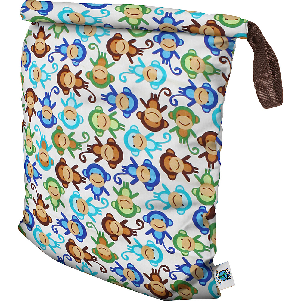 Planet Wise Large Roll Down Wet Bag Monkey Fun Planet Wise Diaper Bags Accessories