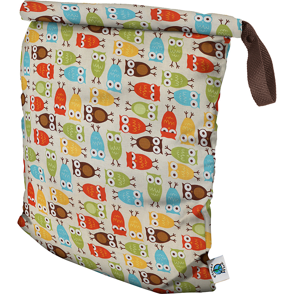 Planet Wise Large Roll Down Wet Bag Owl Planet Wise Diaper Bags Accessories