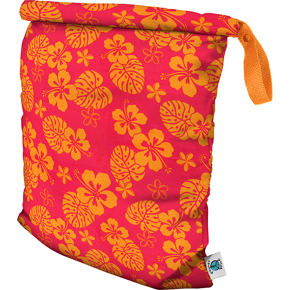 Planet Wise Large Roll-Down Wet Bag Pink Hawaii - Planet Wise Diaper Bags & Accessories