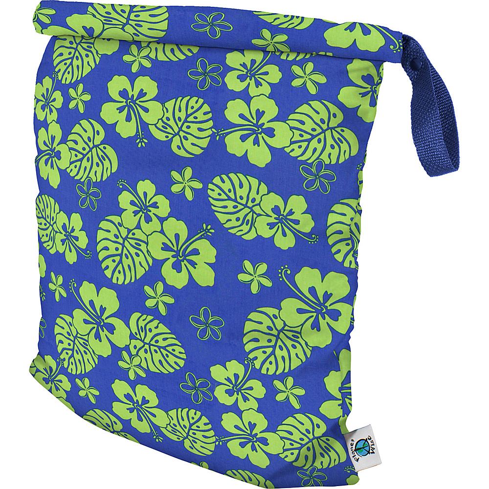 Planet Wise Large Roll Down Wet Bag Blue Hawaii Planet Wise Diaper Bags Accessories