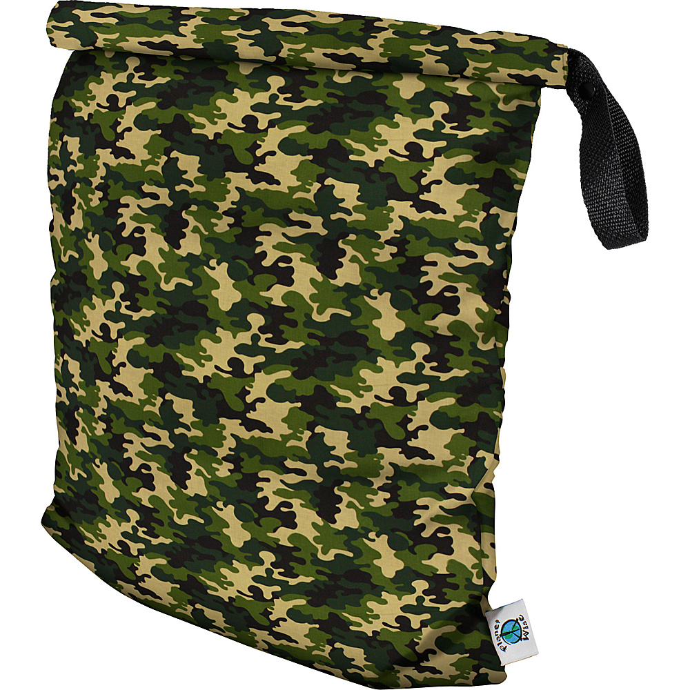 Planet Wise Large Roll Down Wet Bag Camo Planet Wise Diaper Bags Accessories