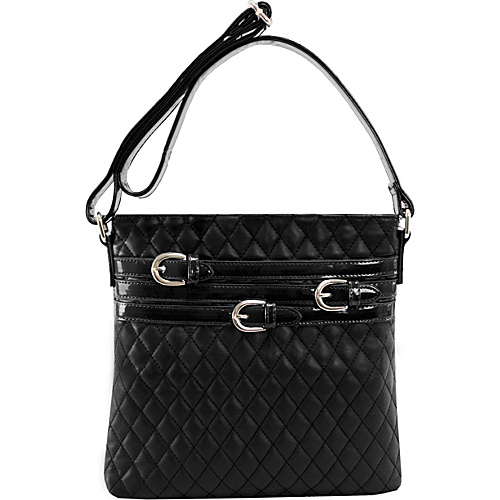 Parinda Clarice Crossbody Black - Parinda Manmade Handbags