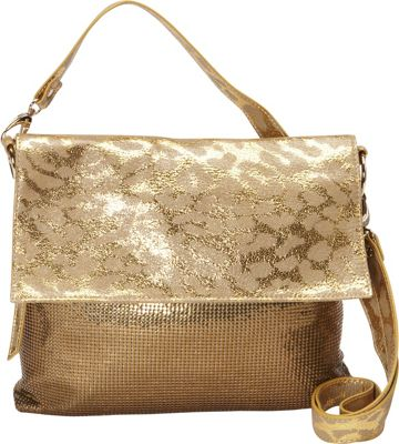 Whiting and Davis Panthera Convertible Gold - Whiting and Davis Evening Bags