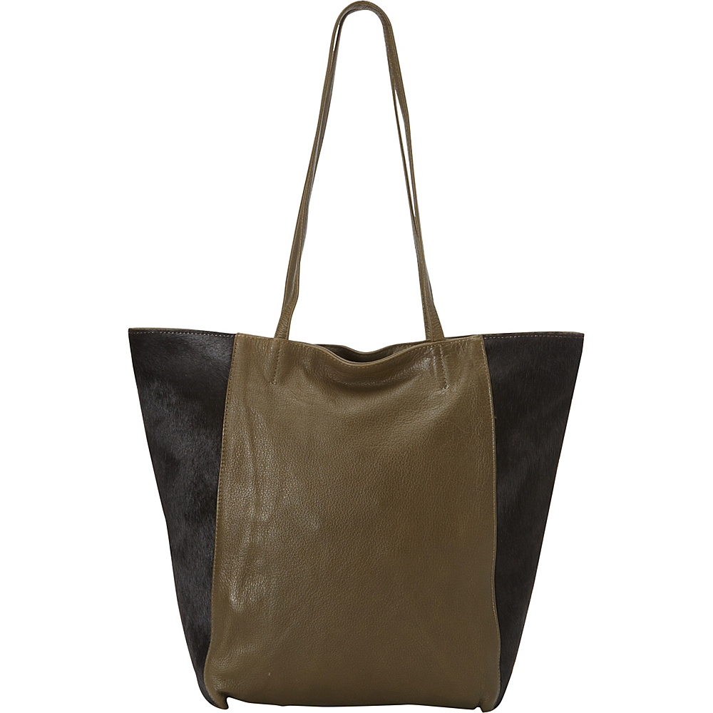 Latico Leathers Grayson Tote Black on Olive - Latico Leathers Leather Handbags - Handbags, Leather Handbags