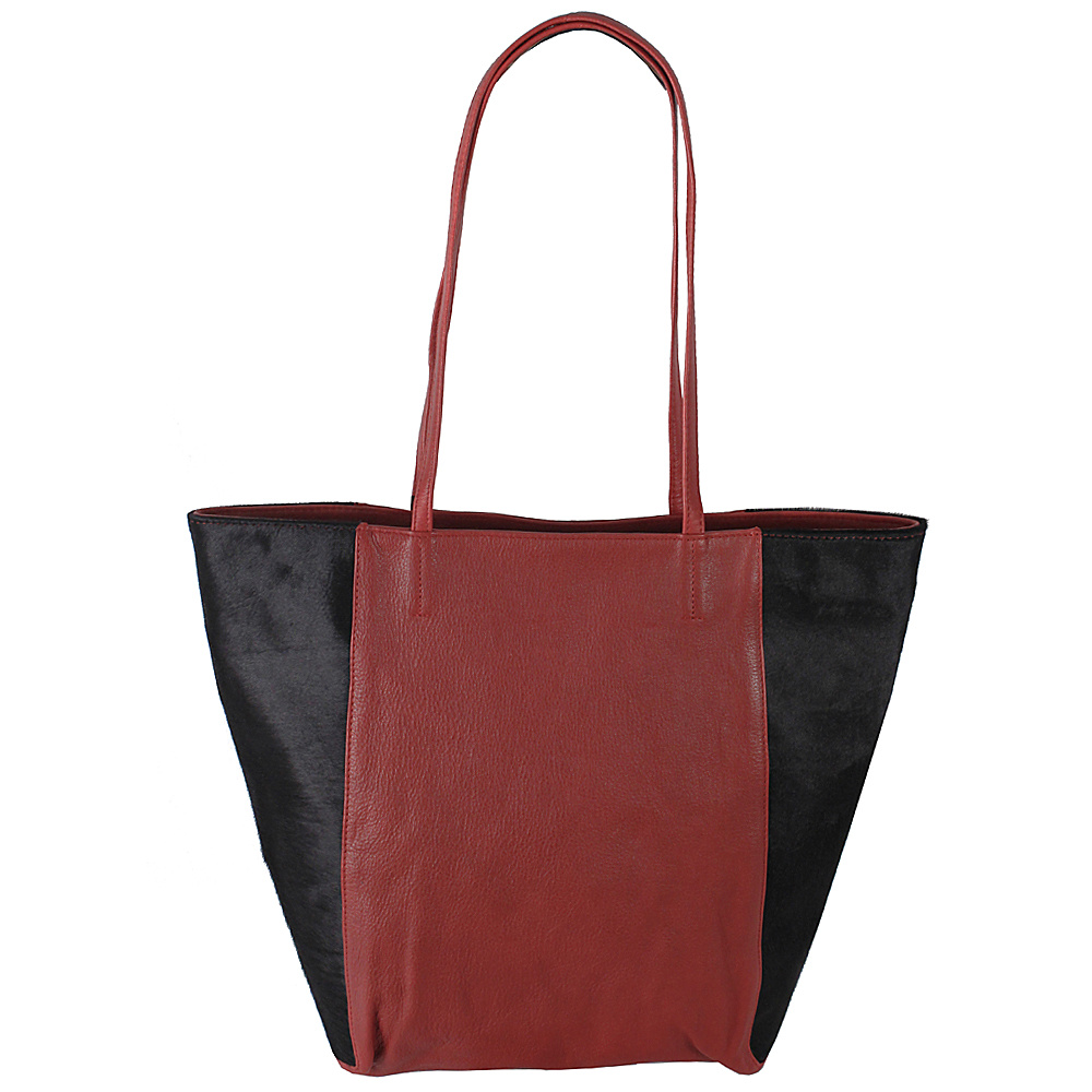 Latico Leathers Grayson Tote Black on Red - Latico Leathers Leather Handbags - Handbags, Leather Handbags