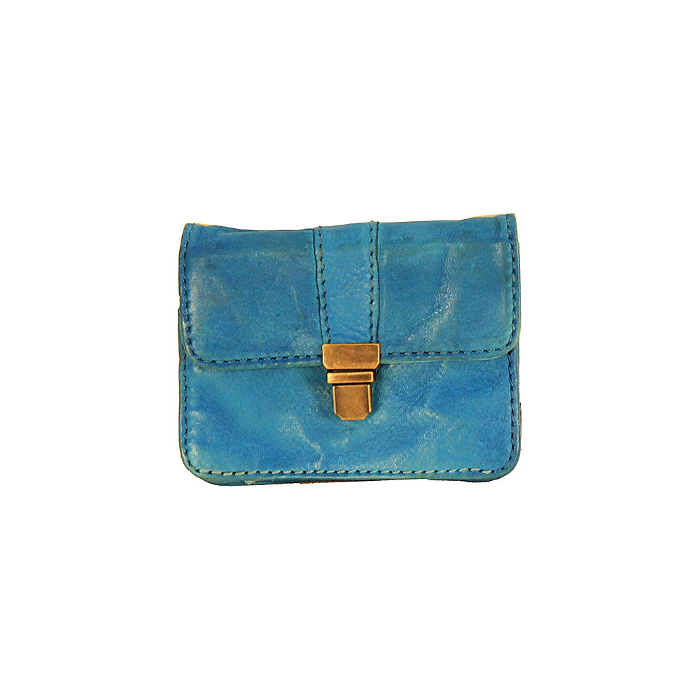 Latico Leathers Burke Wallet Crinkle Blue - Latico Leathers Womens Wallets - Women's SLG, Women's Wallets