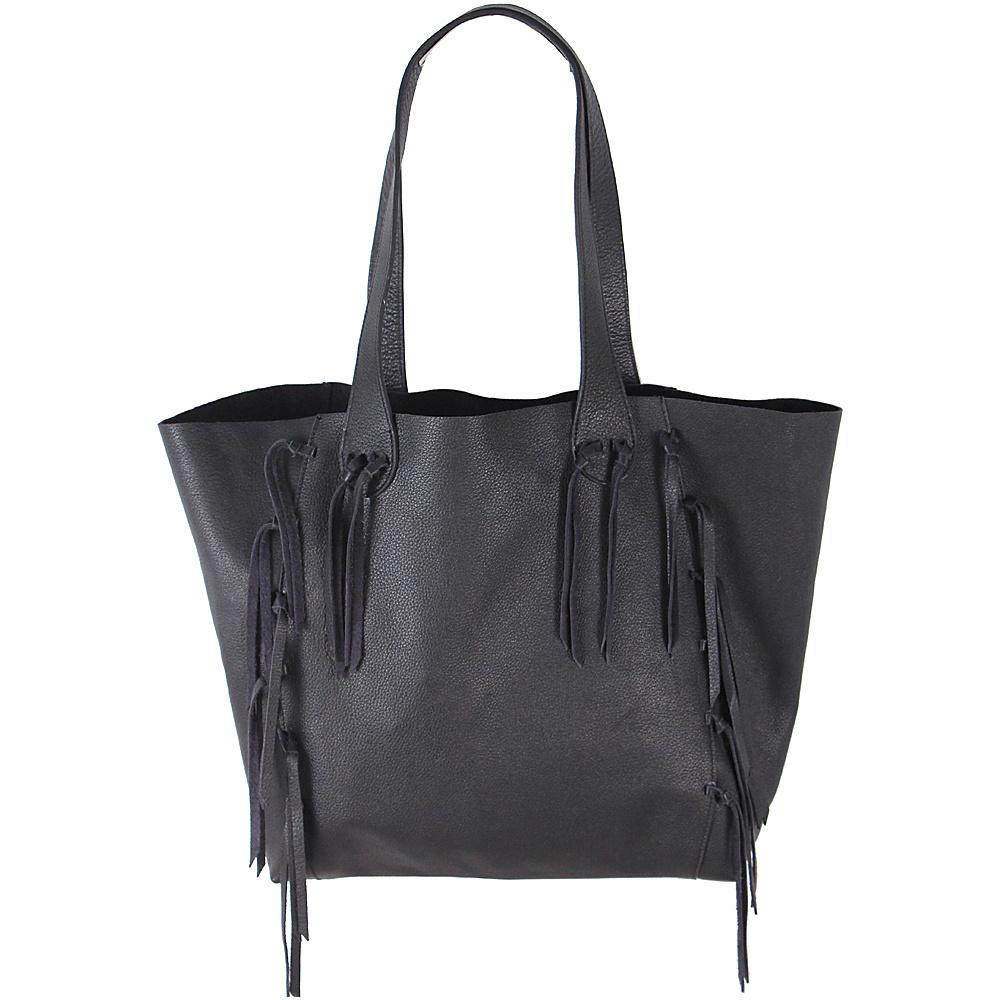 Latico Leathers Colette Tote Pebble Black - Latico Leathers Leather Handbags - Handbags, Leather Handbags