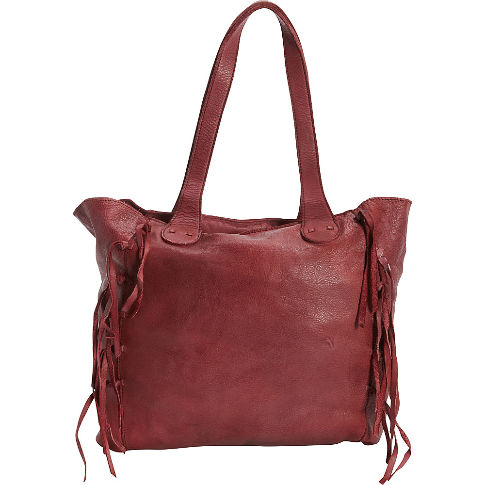 Latico Leathers Colette Tote Crinkle Burgundy - Latico Leathers Leather Handbags - Handbags, Leather Handbags