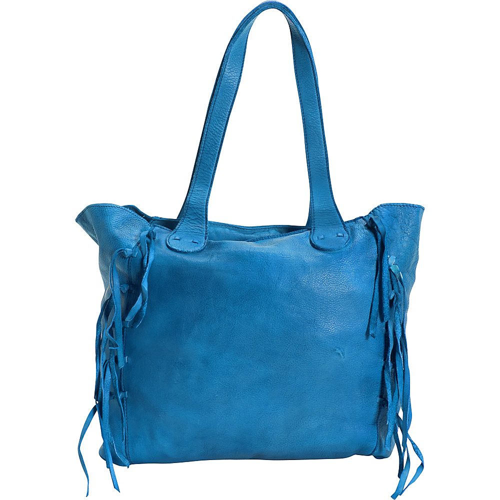 Latico Leathers Colette Tote Crinkle Blue - Latico Leathers Leather Handbags - Handbags, Leather Handbags