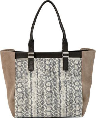Vince Camuto Vera Tote Black/Ash Gray - Vince Camuto Designer Handbags