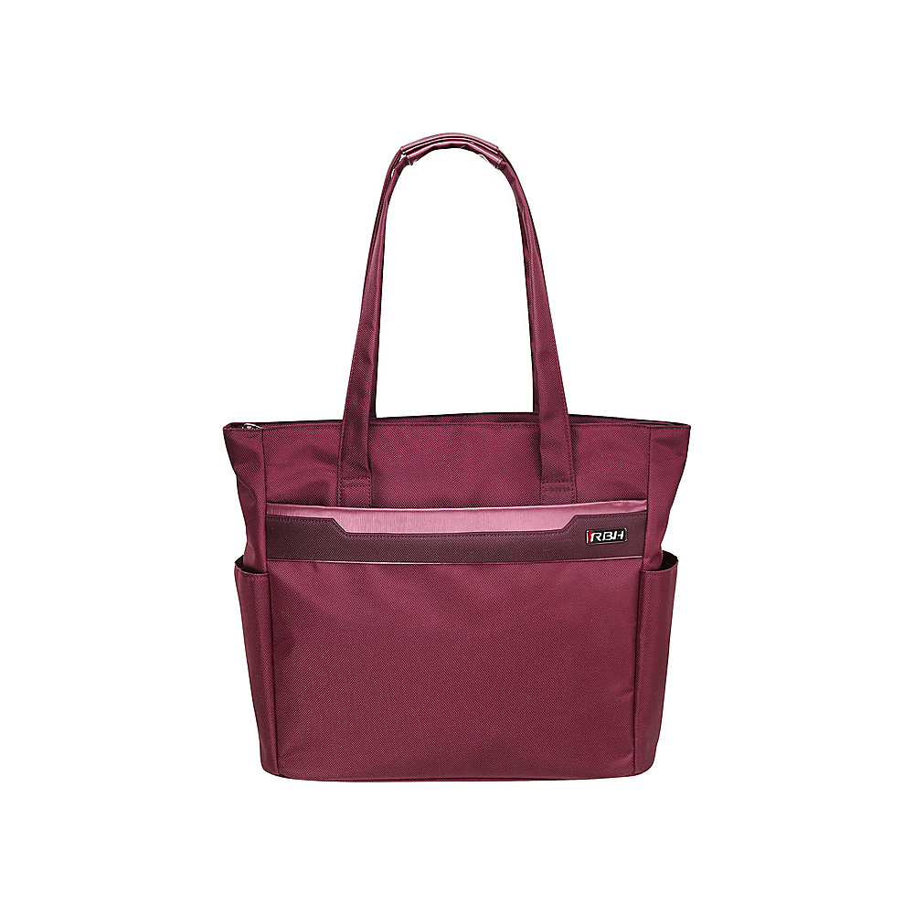 """Ricardo Beverly Hills Bel Aire 18"""" Shopper Tote Wine - Ricardo Beverly Hills Fabric Handbags"""