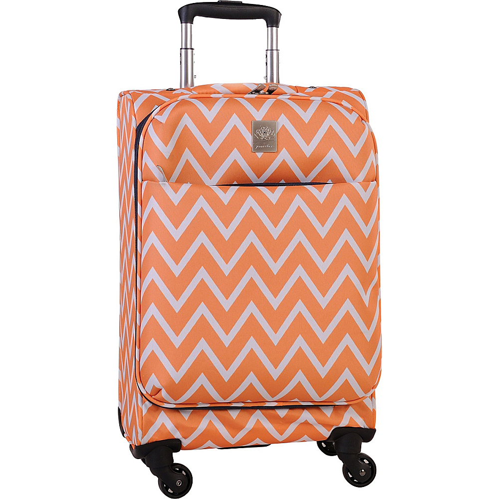 Jenni Chan Aria Madison Ultralite 20 Spinner Orange Jenni Chan Softside Carry On