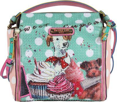 Nicole Lee Cupcake Dog Print Mini Bag Cupcake Dog - Nicole Lee Manmade Handbags