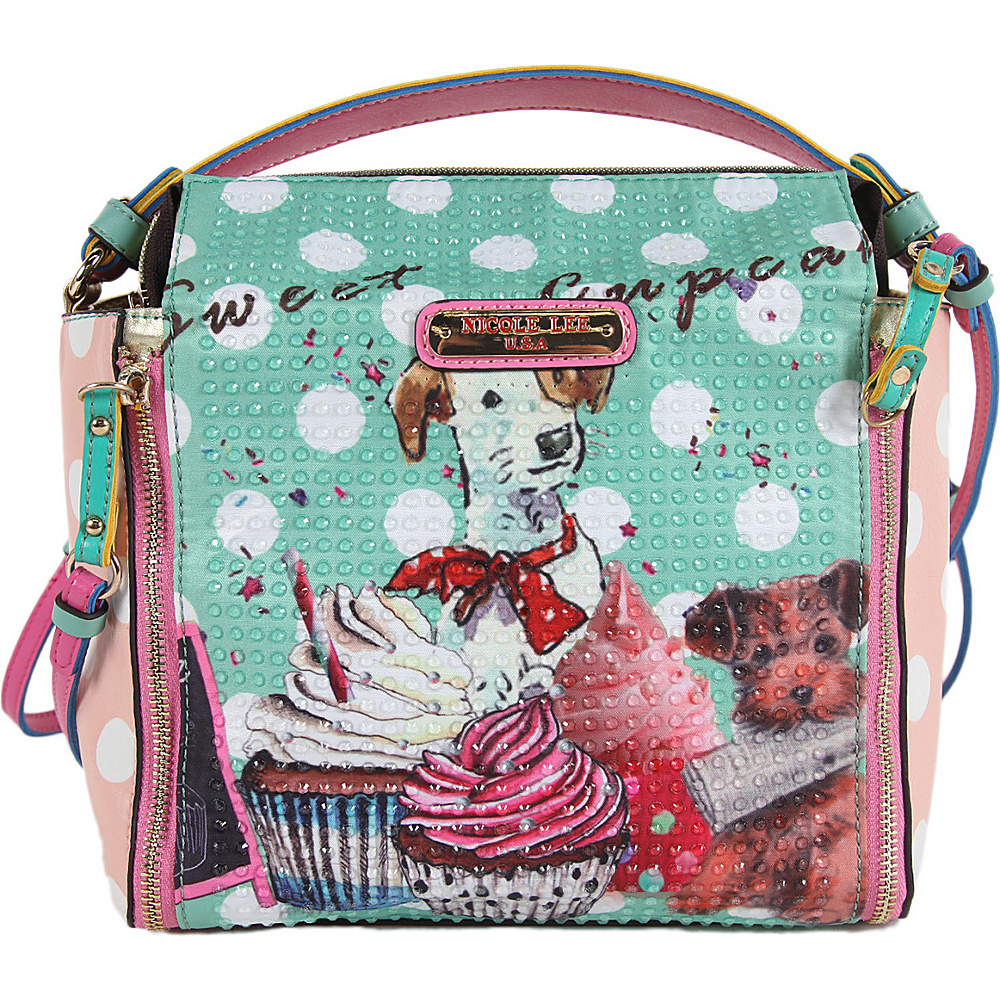 Nicole Lee Cupcake Dog Print Mini Bag Cupcake Dog Nicole Lee Manmade Handbags