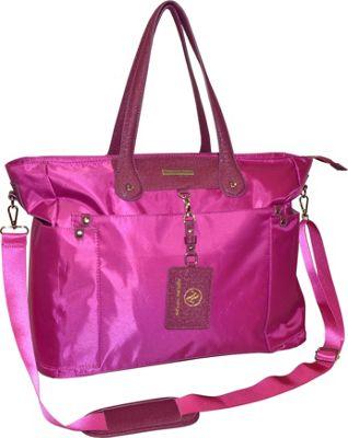 Image of Adrienne Vittadini 17 Nylon E/W Laptop Tote Raspberry - Adrienne Vittadini Ladies' Business