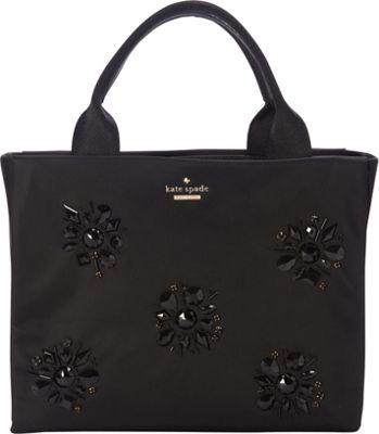 kate spade new york Classic Nylon Jewels Quinn Satchel Black - kate spade new york Designer Handbags