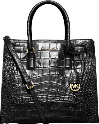 MICHAEL Michael Kors Dillon Large N/S Tote Black - MICHAEL Michael Kors Designer Handbags