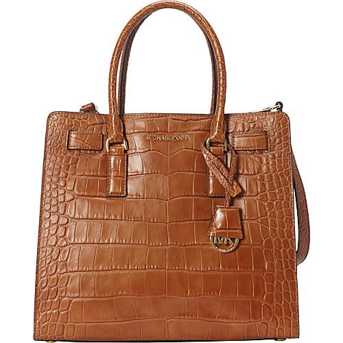 MICHAEL Michael Kors Dillon Large N/S Tote Walnut - MICHAEL Michael Kors Designer Handbags