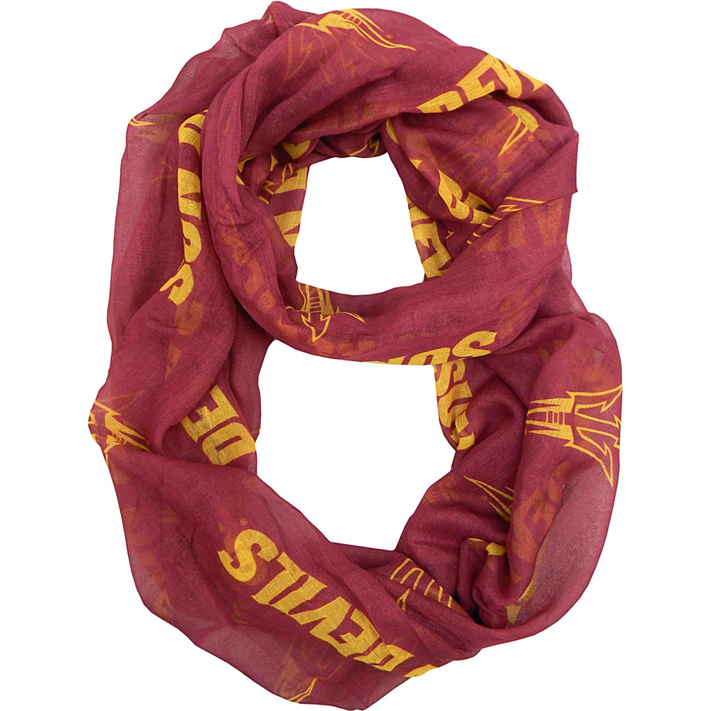 Littlearth Sheer Infinity Scarf - Pac 12 Teams Arizona State University - Littlearth Hats/Gloves/Scarves - Fashion Accessories, Hats/Gloves/Scarves