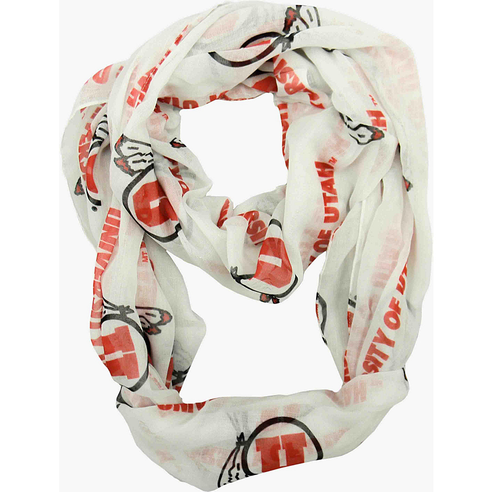 Littlearth Sheer Infinity Scarf - Pac 12 Teams Utah, U of - Littlearth Hats/Gloves/Scarves - Fashion Accessories, Hats/Gloves/Scarves