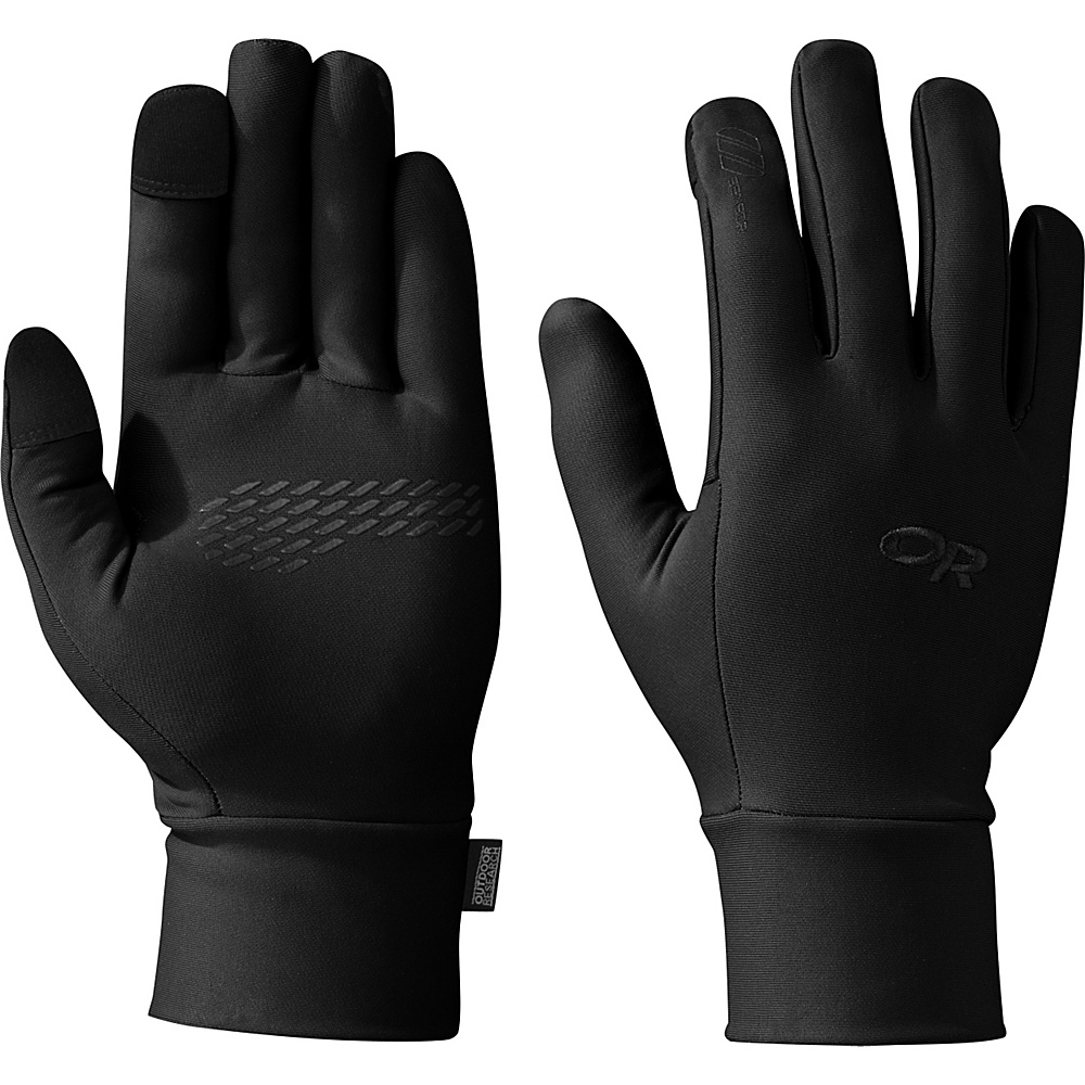 Outdoor Research PL Base Sensor Gloves Mens L - Black - Outdoor Research Hats/Gloves/Scarves - Fashion Accessories, Hats/Gloves/Scarves