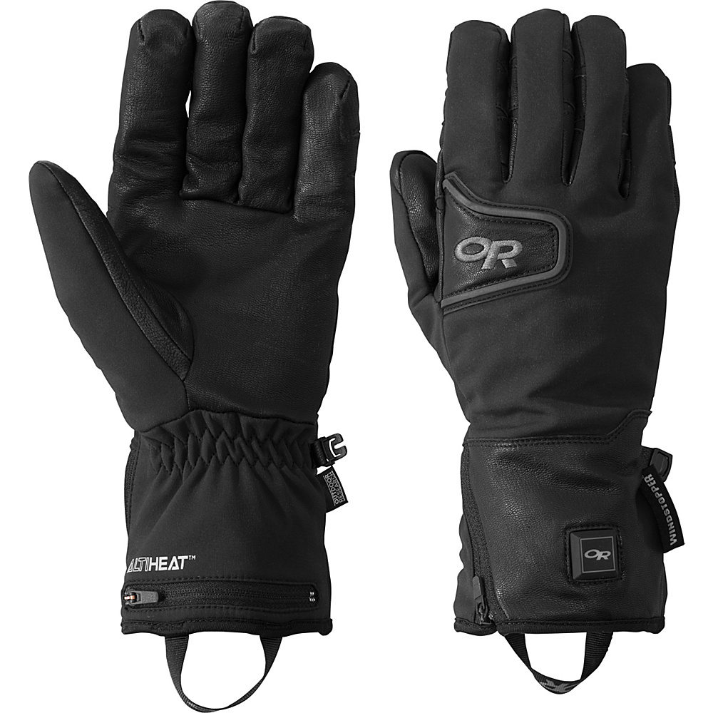 Outdoor Research Stormtracker Heated Gloves M - Black - Outdoor Research Hats/Gloves/Scarves - Fashion Accessories, Hats/Gloves/Scarves