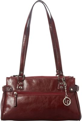 La Diva E/W Satchel Bordeaux - La Diva Leather Handbags
