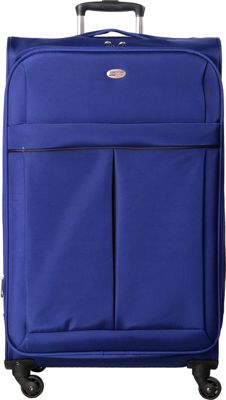 American Flyer Simply Lite! Collection 28 inch Spinner Blue - American Flyer Softside Checked