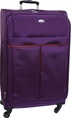 American Flyer Simply Lite! Collection 28 inch Spinner Purple - American Flyer Softside Checked