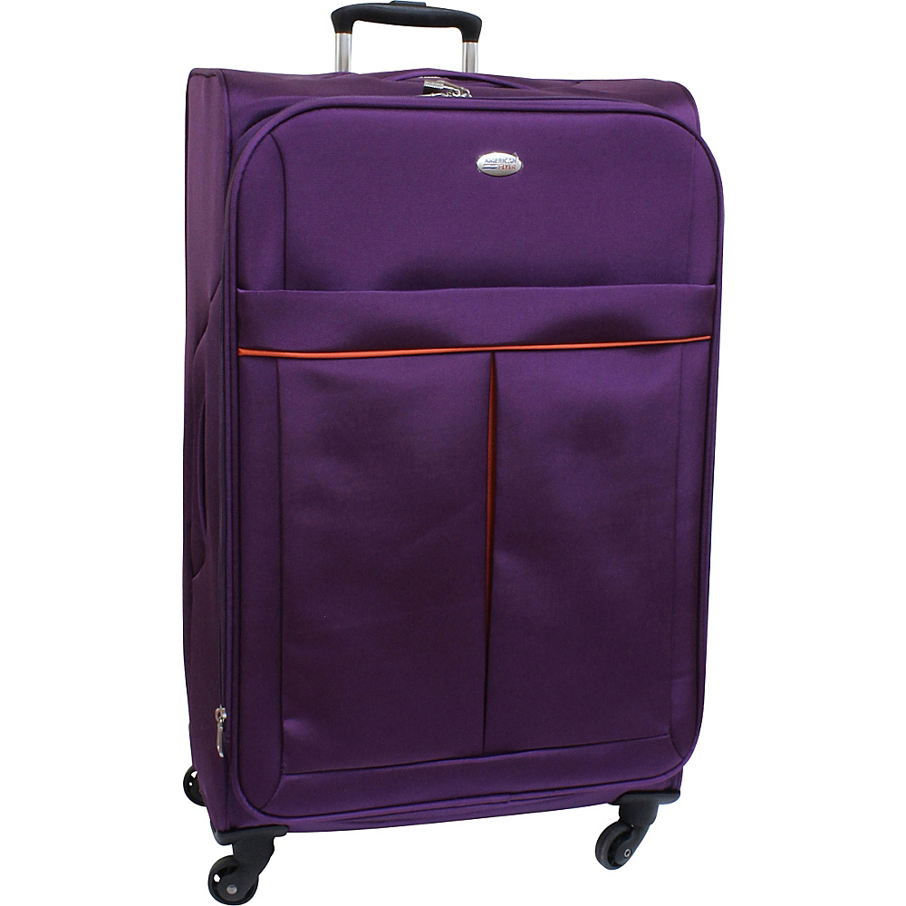 American Flyer Simply Lite! Collection 28 Spinner Purple American Flyer Softside Checked
