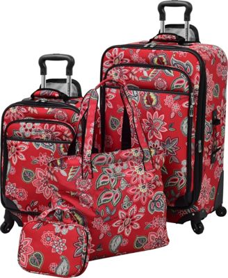 Waverly Boutique 4-Piece Luggage Set Cherry Floral - Waverly Luggage Sets