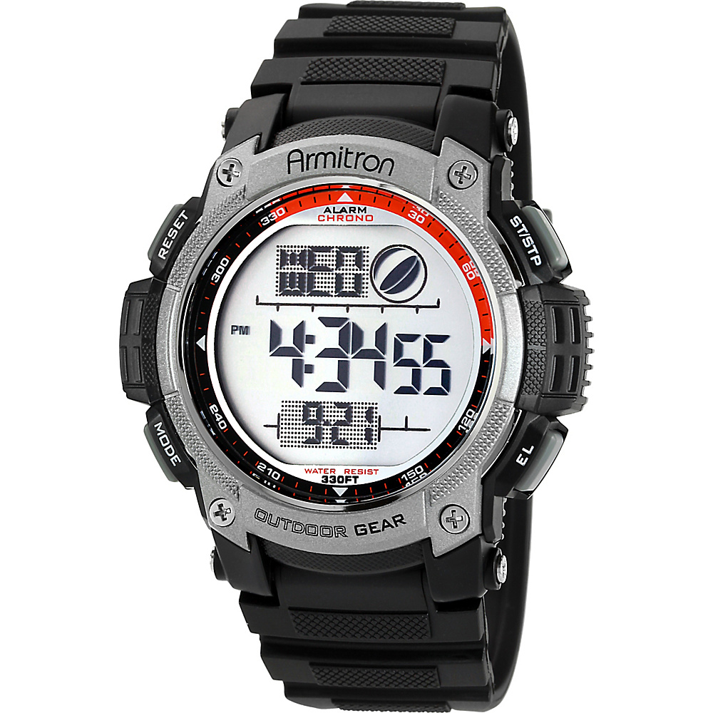 Armitron Men s Black and Grey Digital Watch Black Armitron Watches
