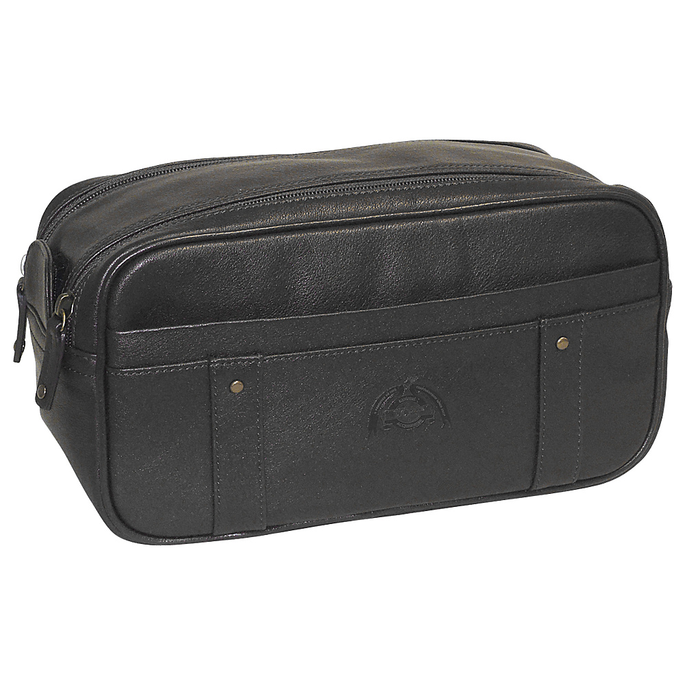 Dopp SoHo Top Zip Travel Kit Black Dopp Toiletry Kits