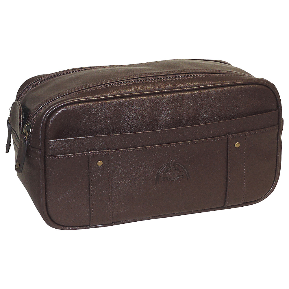 Dopp SoHo Top Zip Travel Kit Dark Brown Dopp Toiletry Kits