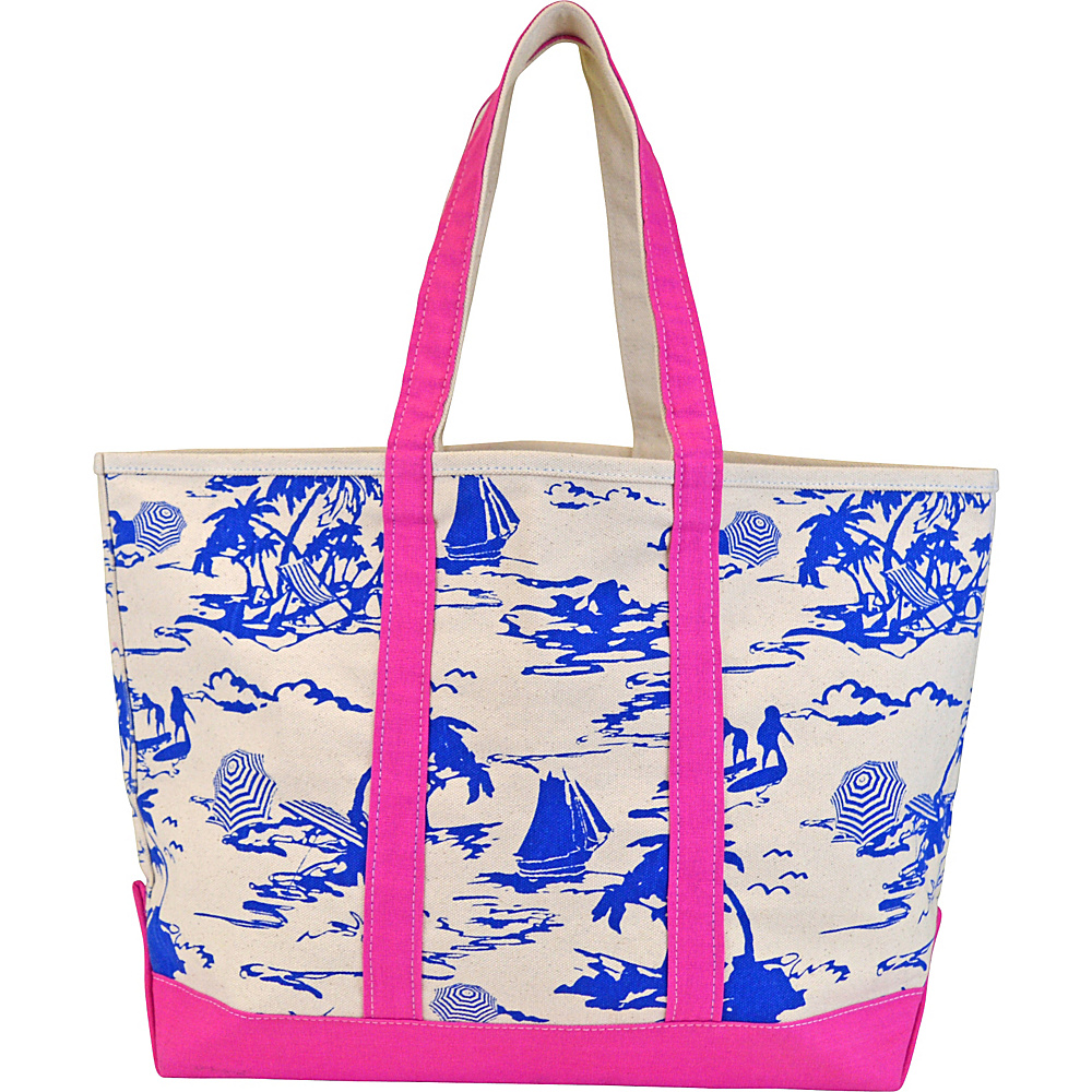All For Color Canvas Tote Bag Island Time - All For Color All-Purpose Totes
