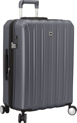 Delsey Helium Titanium 25 inch Spinner Trolley Graphite - Delsey Hardside Checked