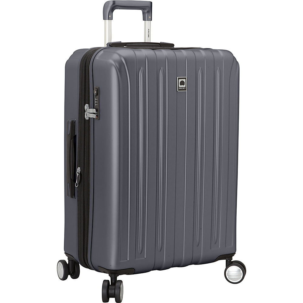 Delsey Helium Titanium 25 Spinner Trolley Graphite Delsey Hardside Checked