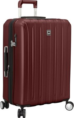 Delsey Helium Titanium 25 inch Spinner Trolley Black Cherry - Delsey Hardside Checked