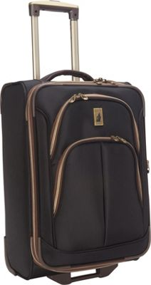 London Fog Coventry Ultra-Lite Collection 21 inch Carry-On Upright Black - London Fog Softside Carry-On