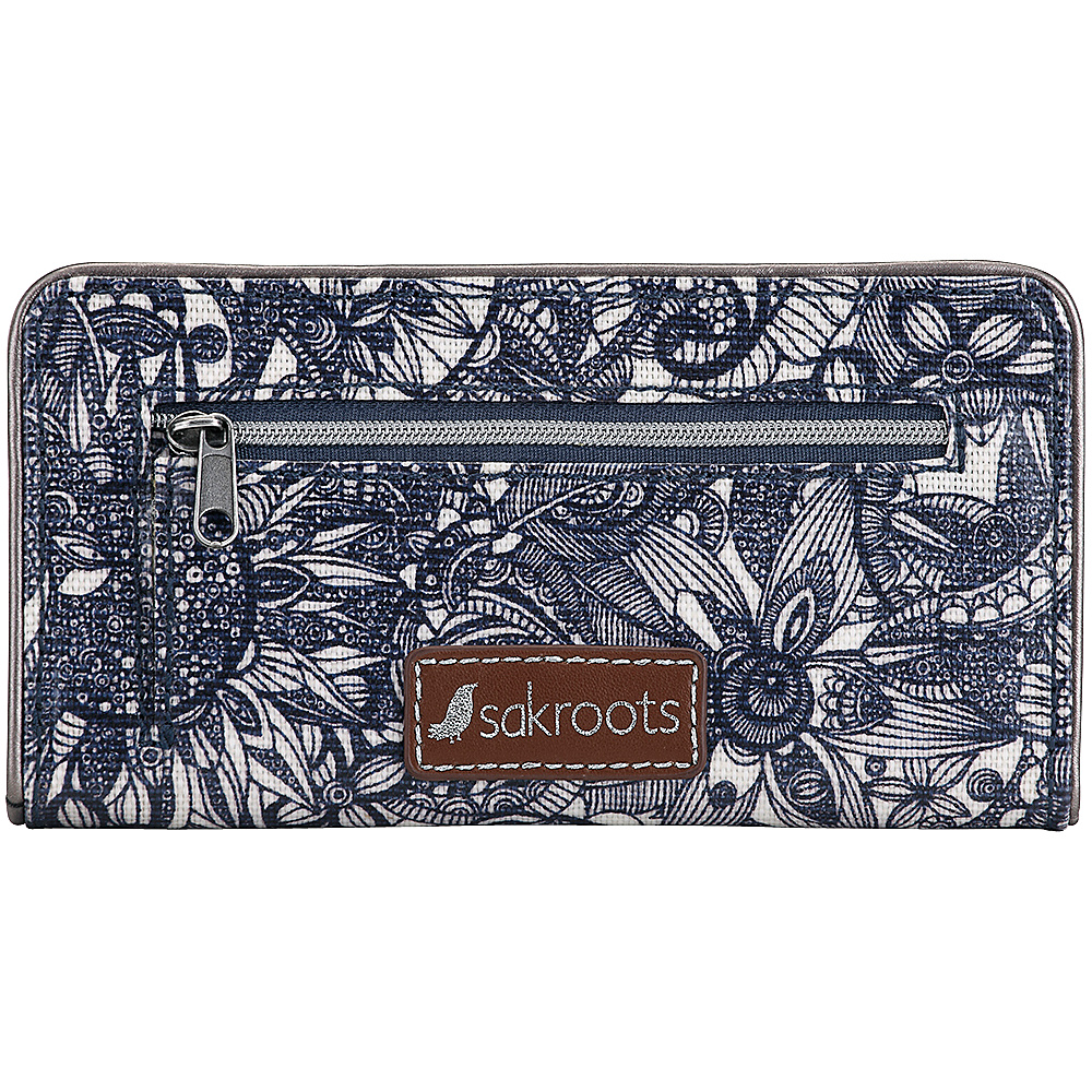 Sakroots Artist Circle Slim Wallet Navy Spirit Desert - Sakroots Womens Wallets - Women's SLG, Women's Wallets