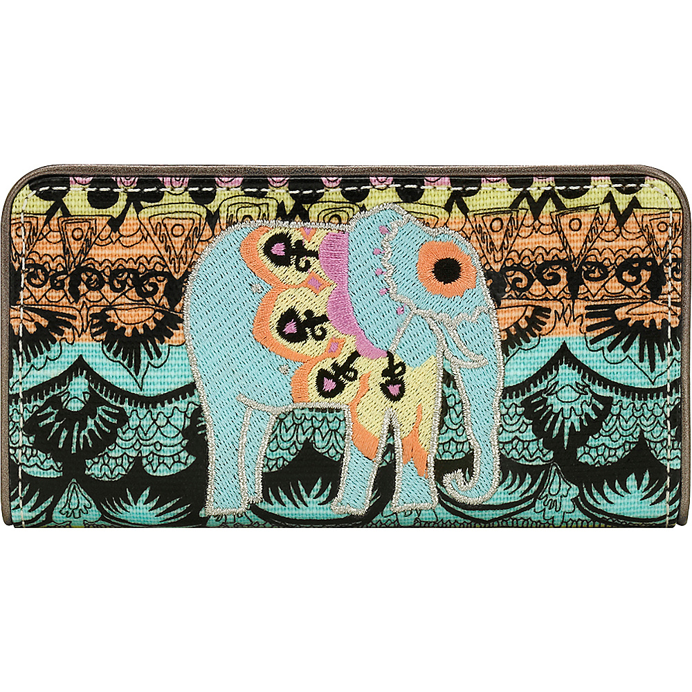 Sakroots Artist Circle Slim Wallet Sherbet One World - Sakroots Womens Wallets - Women's SLG, Women's Wallets